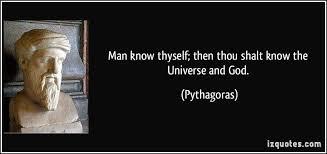 man know thyself pythagoras
