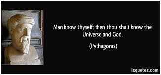 man know thyself pythagoras