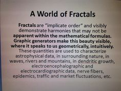 a word of fractals